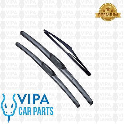 Fits Land Rover Discovery MK1 SUV Aero VU Front /& Rear Windscreen Wiper Blades
