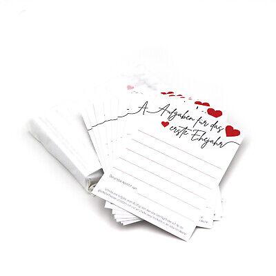 Hochzeitsspiel Postkarten mit Aufgaben für das erste Ehejahr - Geschenk