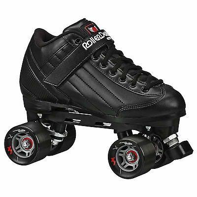 New Black Roller Skates - Roller Derby Stomp 5 Elite Men Siz
