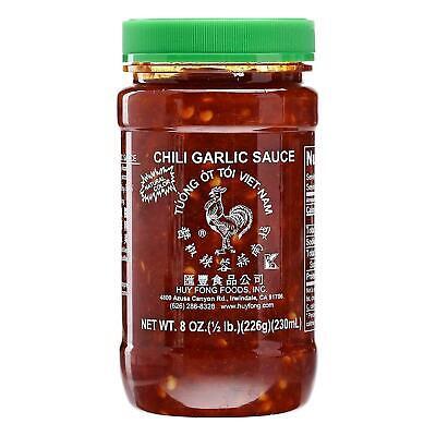 Huy Fong Chili Garlic Sauce 230ml Chunky Chilli Pepper Hot Spicy Condiment Chunky Garlic Hot Pepper Sauce