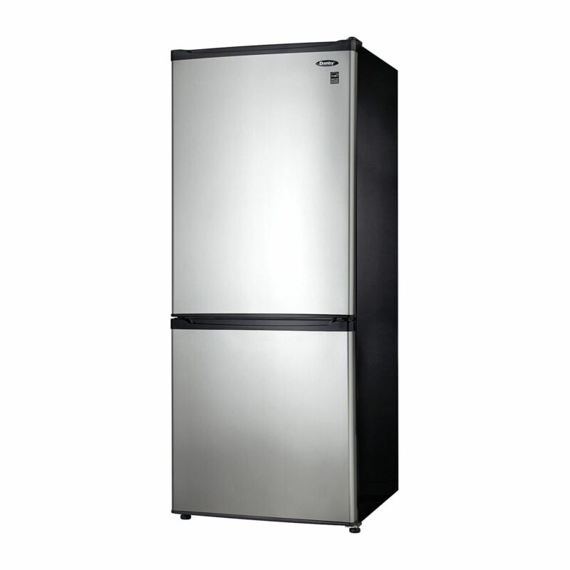 Danby 9.2 Cubic Feet Apartment Size Refrigerator & Freezer, Steel (Used)
