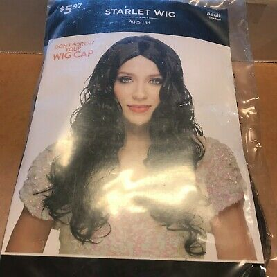 Halloween Cosplay Starlet Wig Long Black New Adult Size