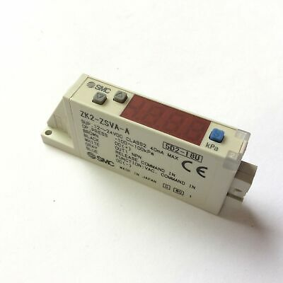 Smc Zk2-zsva-a Digital Pressure Switch For Vacuum Assembly Energy Saver 12-24vdc