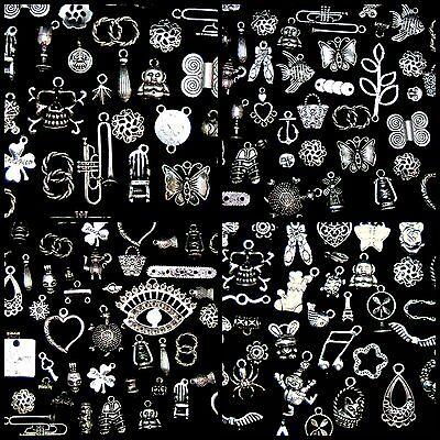 30g Random Mix - Tibetan Silver Charms Beads Findings Jewellery Mix Craft B197