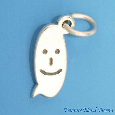 Text Nachricht Glückliches Gesicht Lächeln Emoji .925 Sterling Silber