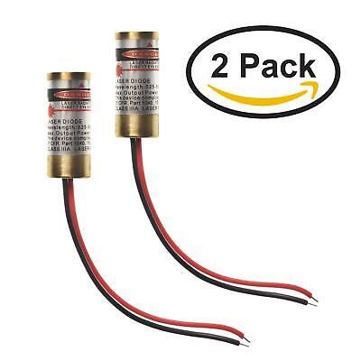 Red Line Laser By Farhop - 4.5v 5mw 650nm Red Line Laser 9x21mm Diode Module