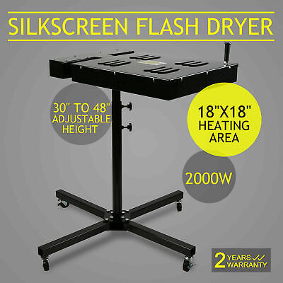18 X 18 Flash Dryer Silk Screen Printing Equipment T-shirt Curing Heating Us