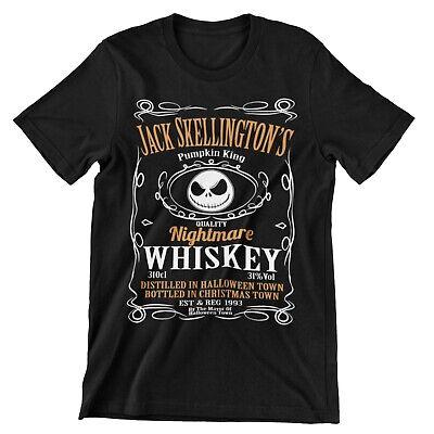 Jack Skellington's Nightmare Whiskey Funny Disney  Halloween T-Shirt