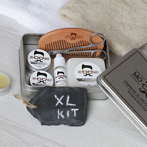mo bro 39 s xl unscented grooming kit beard oil balm wax soap comb scissors. Black Bedroom Furniture Sets. Home Design Ideas