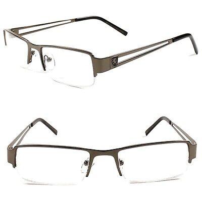 Designer Stylish Rectangle Smart Nerd Metal Prescription Rx Eye Glasses Frames  ()