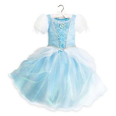 Disney Store Cinderella Princess Dress Up Gown Costume Halloween 7/8 NEW ()