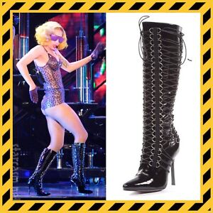RARE Lady Gaga Monster Ball Corset Boots Size 6