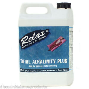 Relax ta total alkalinity plus swimming pool spa increaser raise up treatment ebay for Raise alkalinity in swimming pool