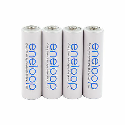 4x Panasonic eneloop Rechargeable AA Batteries NiMH min. 190