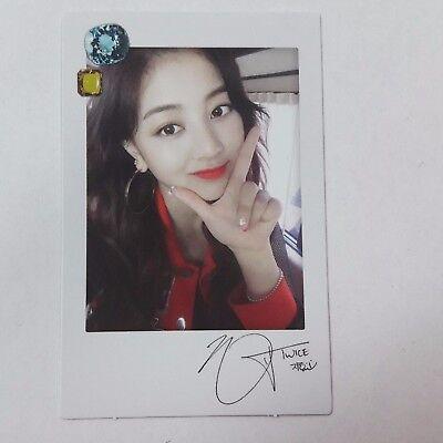 TWICE 1st Twicetagram Official Original JIHYO photocard 1p K-POP black version