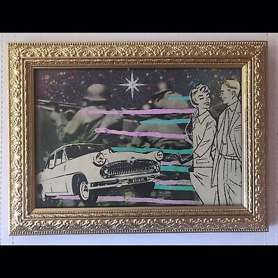 """Mixed Media Collage By Pete Reilly THR  """"It's Never As Easy..."""" Framed Art"""