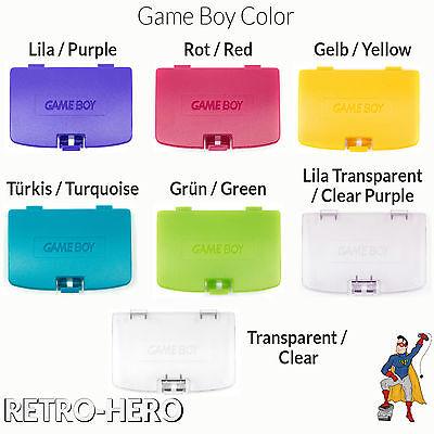 GameBoy Color GBC Akku Batterie Deckel Klappe Battery Cover fach - 7 Farben