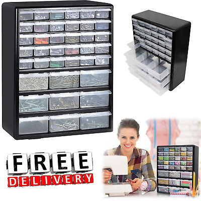 Thread Storage Wall Mount Hardware Craft Storage Box Cabinet Drawer Organizer