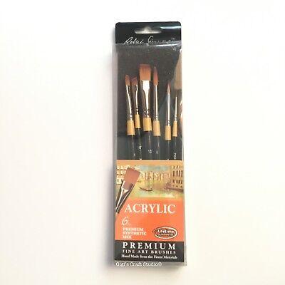 6pcs set Acrylic Daler Rowney FINE ART BRUSHES  Premium Synthetic Mix 286300601 for sale  Shipping to India