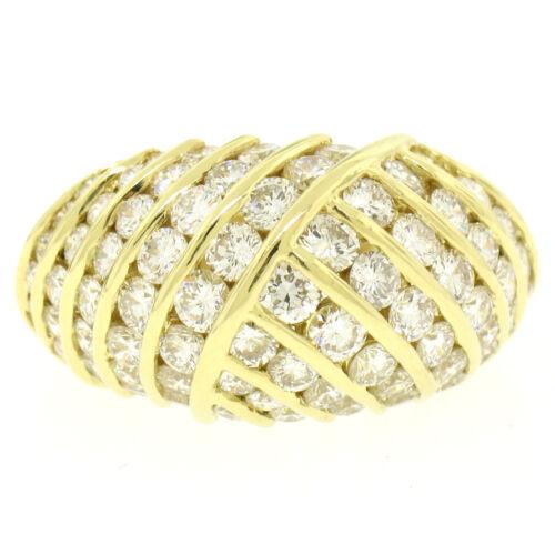 Tiffany & Co. 18k Yellow Gold 3.00ctw Channel Vvs E Diamond Dome Band Ring