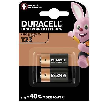 Duracell Batterien CR123, CR17345, CR123A, Lithium, Photo, 3V, 2er Pack Duracell 3v Lithium Photo Batterie