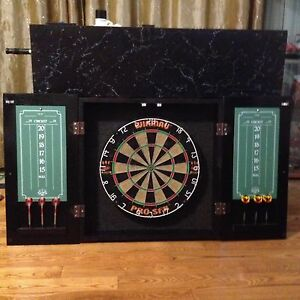Custom Dart Board Cabinet with Board
