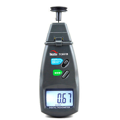 Digital Laser Photo Tachometer Non Contact Tach F. Engine Motor Industrial Rpm