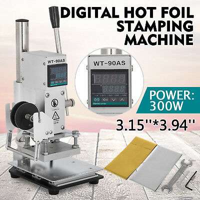 810cm Digital Hot Foil Stamping Machine Leather Stamper Embossing Bronzing 110v