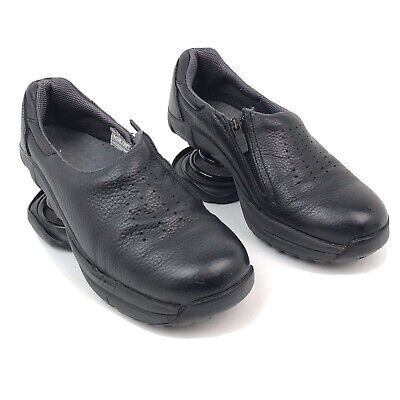 Z-Coil Taos Clog Slip On Shoes Black Leather Women's Size 7 Pain Relief Comfort