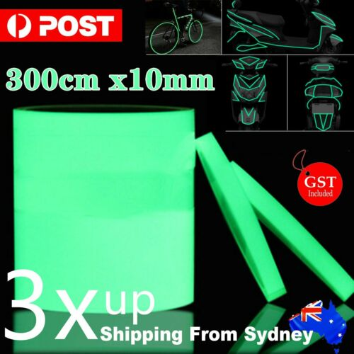 Home Decoration - 300cmx10mm Luminous Tape Self-adhesive Safety Home Decor Glow In The Dark Sign
