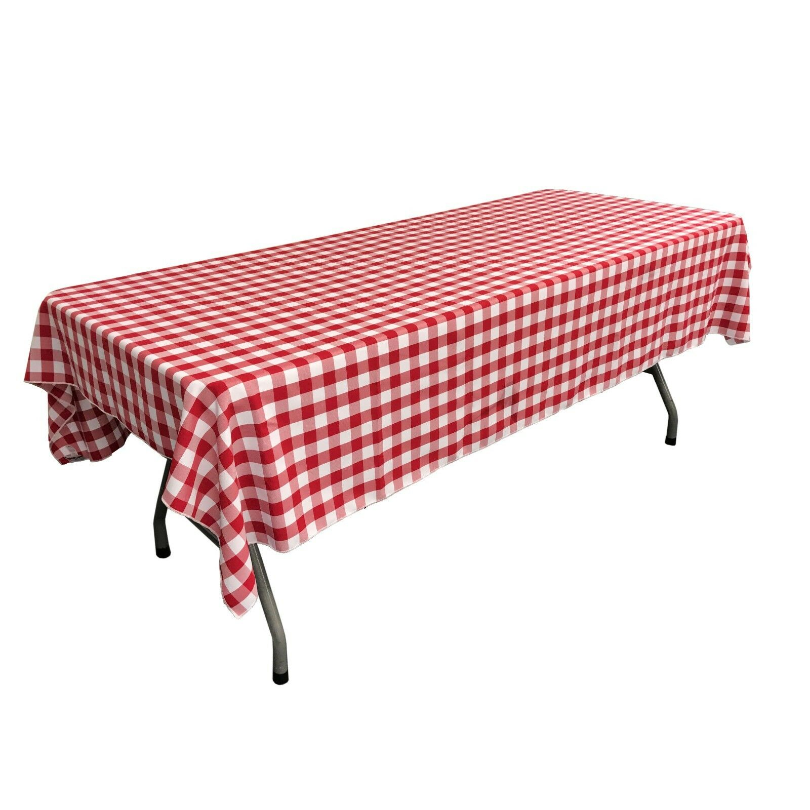 polyester checkered 60 by 102 inch rectangular
