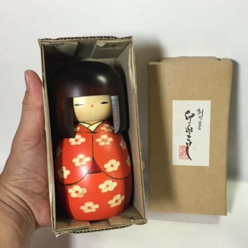 Strongly Recommend! 14.5cm Great condition USABURO Kokeshi JAPAN No.S725L