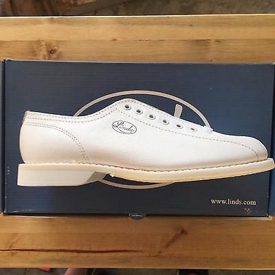 Linds Women's Championship White Left Handed Bowling Shoes Size 6.5 In Box