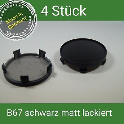 B 67 schwarz matt lackiert Nabenkappen Felgendeckel 68 mm BMW Brock CMS  4 St.  gebraucht kaufen  Olpe