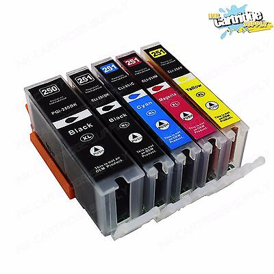 5- New Ink For PGI-250XL CLI-251XL Canon Pixma MG5422 5520 5522 6320 6420 7120