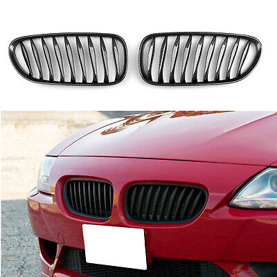 - Front Fence Grill Grille ABS Carbon Fiber For BMW Z4 E85 E86 2003-2008 T1