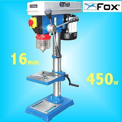 FOX F12-941A 12 Speed Bench Pillar Drill 240v table press 16mm Chuck 3Yr Warrnty