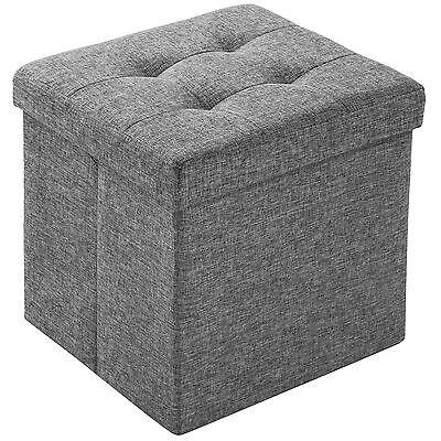 Faltbarer Sitzhocker Aufbewahrungsbox Sitzwürfel Hocker Box Möbel 38x38x38cm