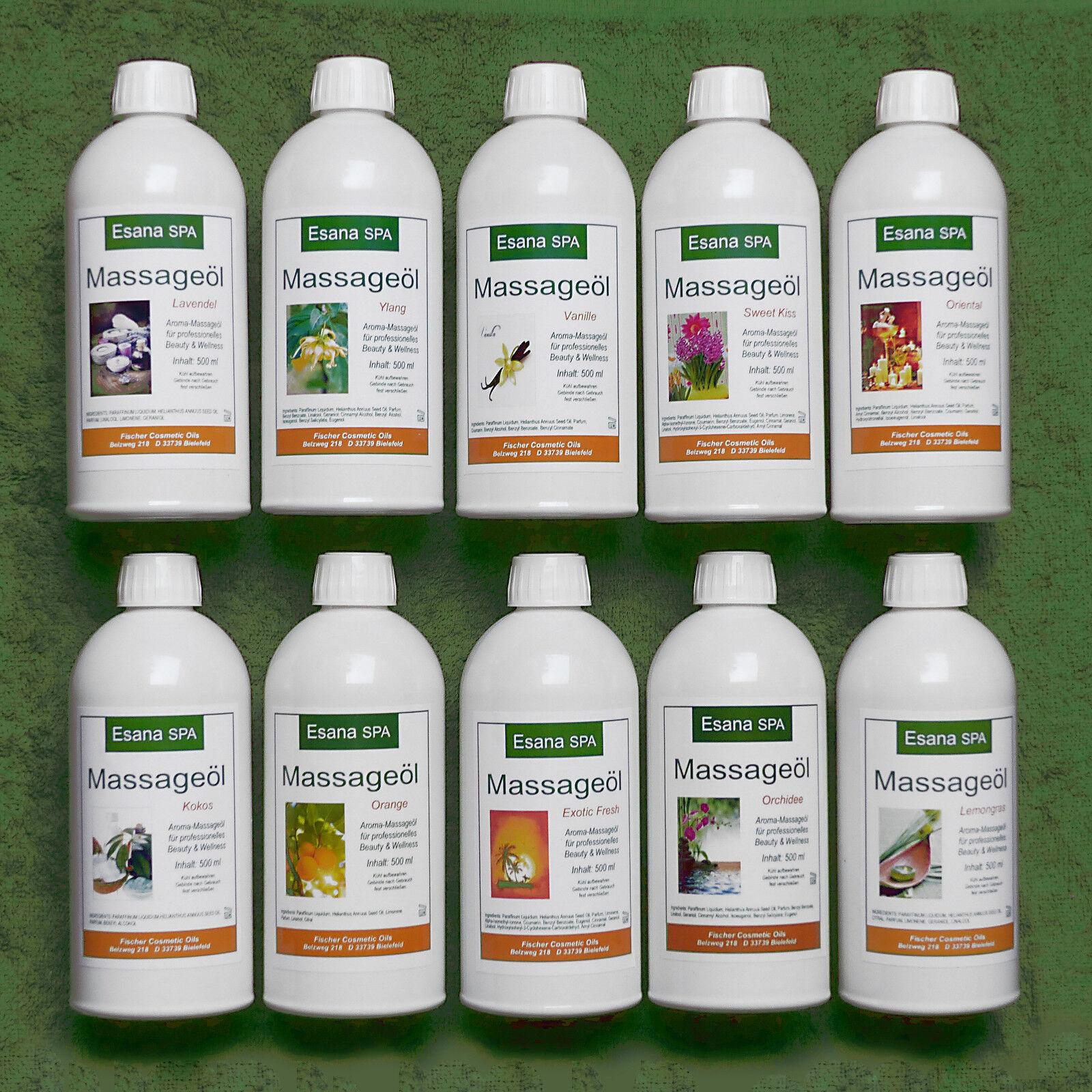 Esana SPA, exkl. Aroma Massageöl für professionelle Wellness, 0,5 bis 5 Liter