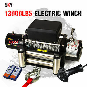 12V Wireless Steel Cable 13000LBS, 5897KGS Electric Winch 4WD 4x4 Boat 12000LBS