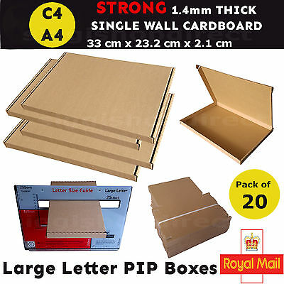 20 x A4 C4 Royal Mail Large Letter Box PIP Postal Shipping Cardboard Boxes Box