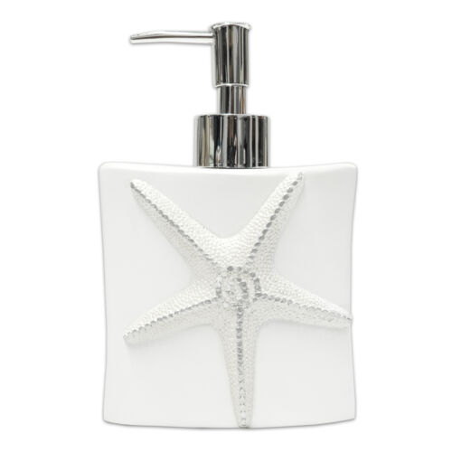 Bathroom Resin Lotion Soap Dispenser- White Popular Bath By The Sea Bath