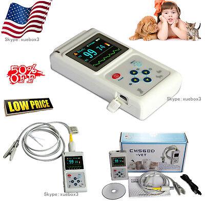 Veterinary Pulse Oximeter Spo2 Heart Rate Monitor Vet Eartongue Probeus Seller