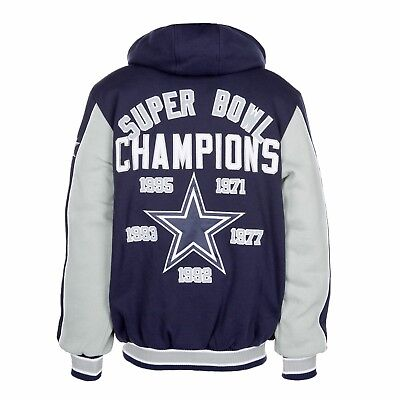 Dallas Cowboys 5 Time Super Bowl Champs First Class Varsity Fleece Jacket