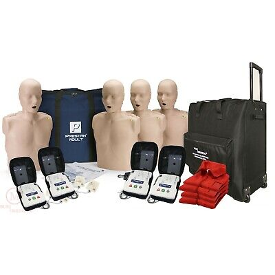 Cpr Adult Manikin 4-pack W. Feedback Aed Ultratrainers Carry Bag W. Wheels
