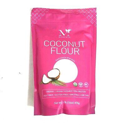 Mementa Organic Coconut Flour Vegan Gluten Free Low Carb Kosher High Fiber 16oz Kosher Organic Flour
