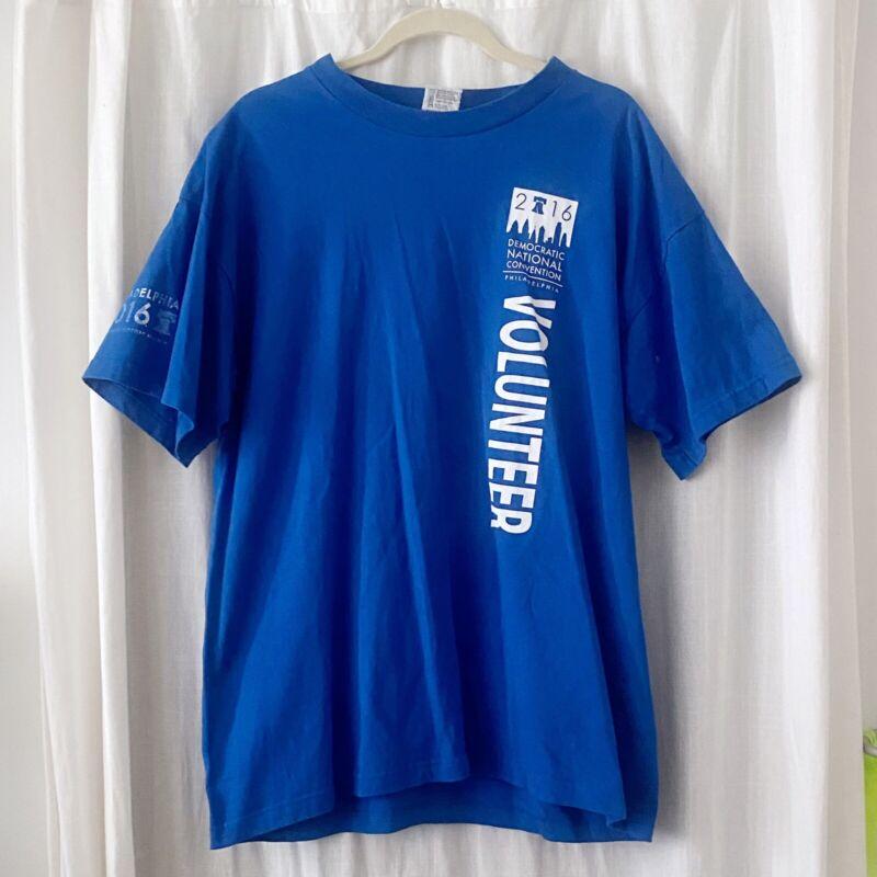 2016 Democratic Convention Philadelphia Volunteer Blue T-Shirt Unisex XL