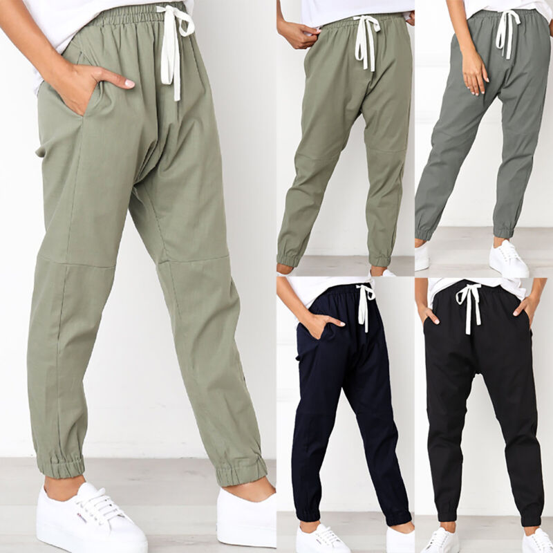 Women Joggers Sport Summer Trouser Pants Leisure Holiday Bea