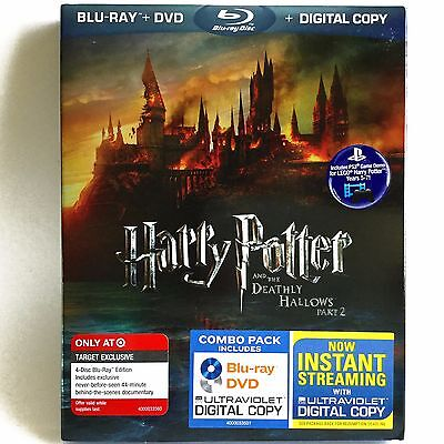 Harry Potter and the Deathly Hallows Pt. 2 (4-Disc Blu-ray/DVD) NEW ! w/ Slip