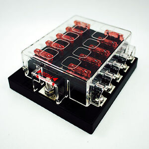10-Way-Blade-ATY-Fuse-Box-Terminal-Bar-Kits-Bus-Car-Boat-Marine-12V-24V